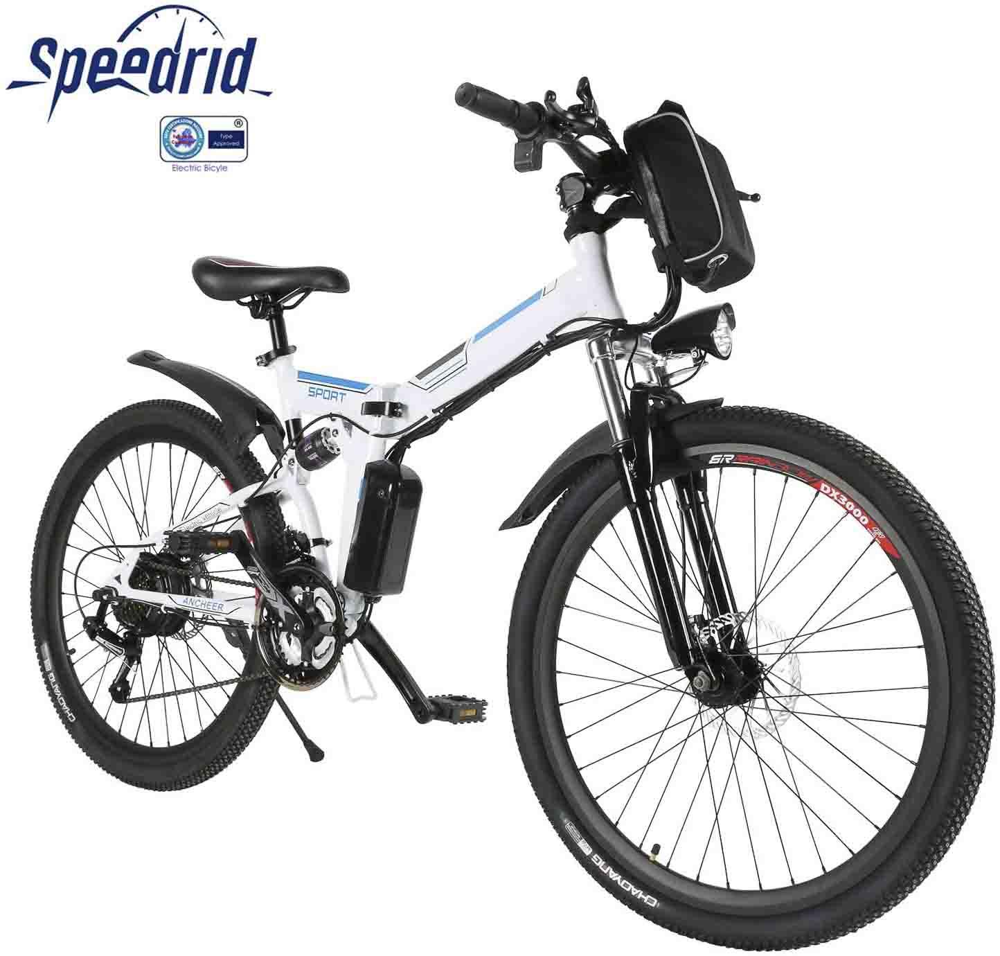 bicicleta electrica plegable de montaña