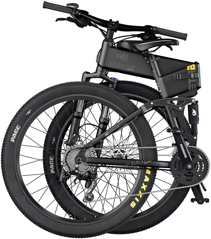 Bicicleta electrica montaña plegable doble suspension