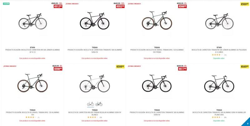 Outlet Bicicleta de carretera menos 1000 euros