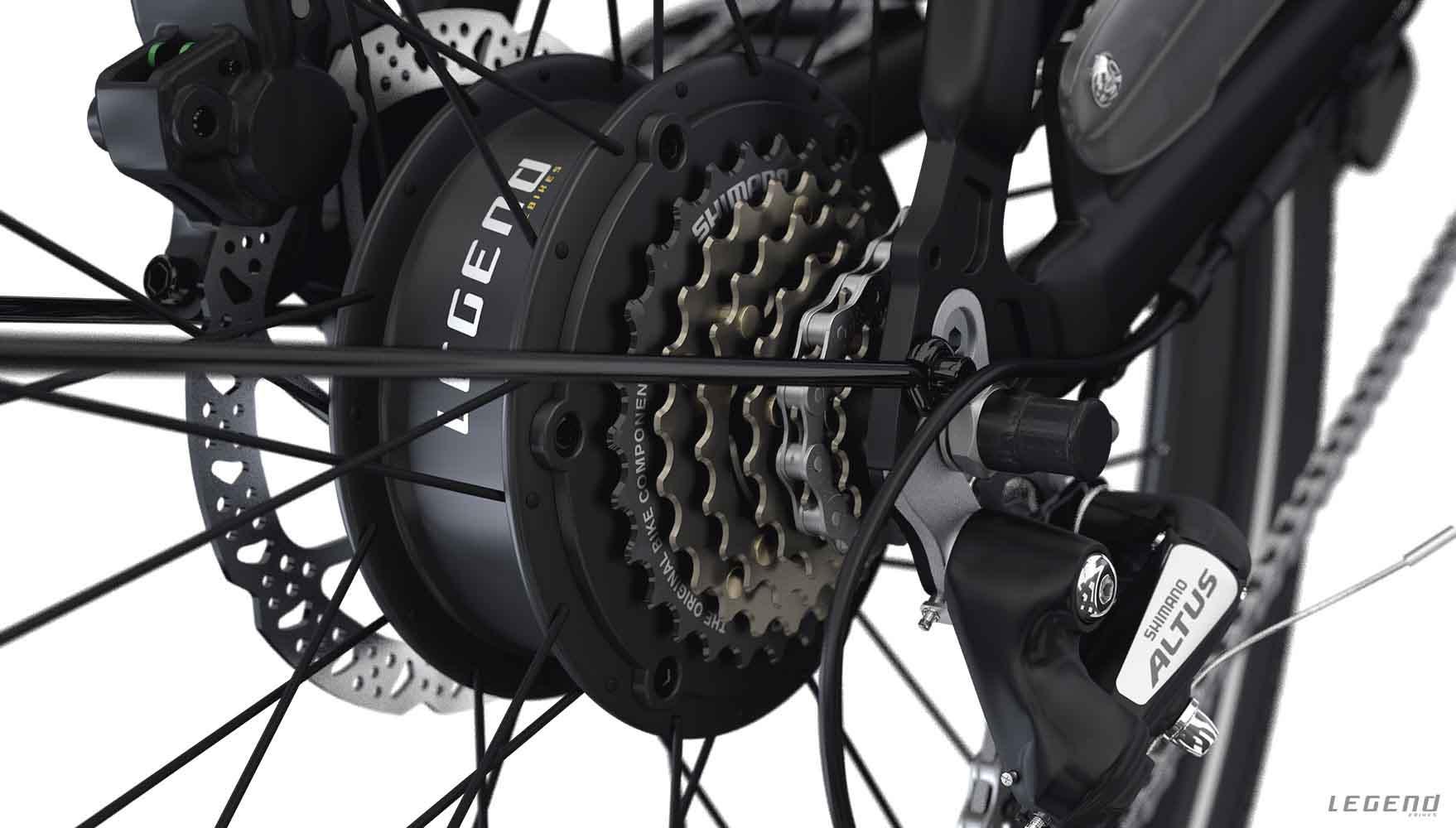 motor bicicleta rueda trasera